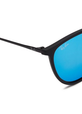 Detail View - Click To Enlarge - RAY-BAN - 'RJ9060S' rubberised front metal square junior sunglasses