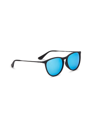 Figure View - Click To Enlarge - RAY-BAN - 'RJ9060S' rubberised front metal square junior sunglasses