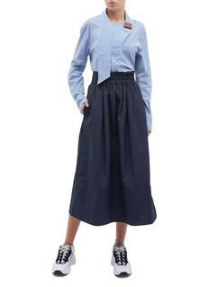 Tibi Shirred waistband skirt