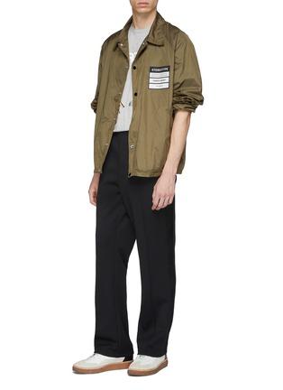 Figure View - Click To Enlarge - Maison Margiela - 'Stereotype' appliqué coach jacket
