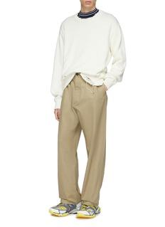 Maison Margiela Straight leg gabardine pants