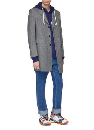 Figure View - Click To Enlarge - Maison Margiela - 'Stereotype' appliqué hoodie