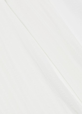 - JACQUEMUS - Knot front drape stripe V-neck shirt dress