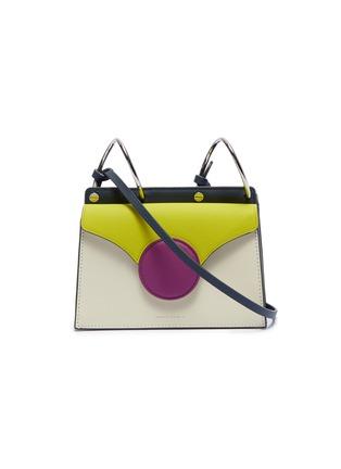 Main View - Click To Enlarge - DANSE LENTE - 'Phoebe' spiral handle colourblock leather mini crossbody bag