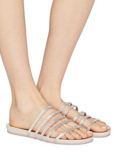 Pedro García 'Gala' Swarovski crystal strappy satin sandals