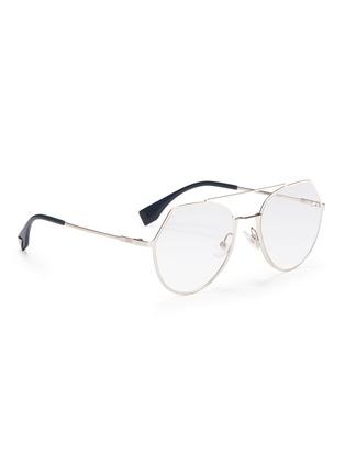 e5f8709bf7 Fendi. Metal angular aviator optical glasses