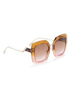 Fendi 'Tropical Shine' Acetate square sunglasses