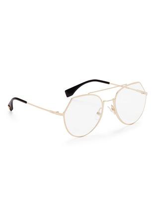 1001c0d4b2 Figure View - Click To Enlarge - Fendi - Metal angular aviator optical  glasses