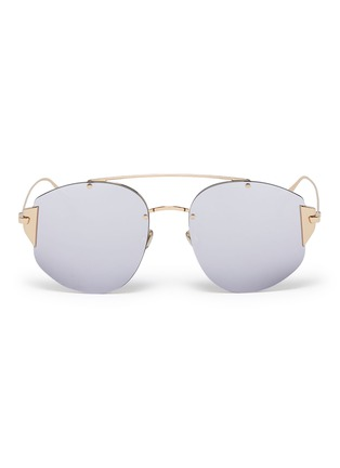 Main View - Click To Enlarge - DIOR - 'Dior Stronger' mirror metal aviator sunglasses