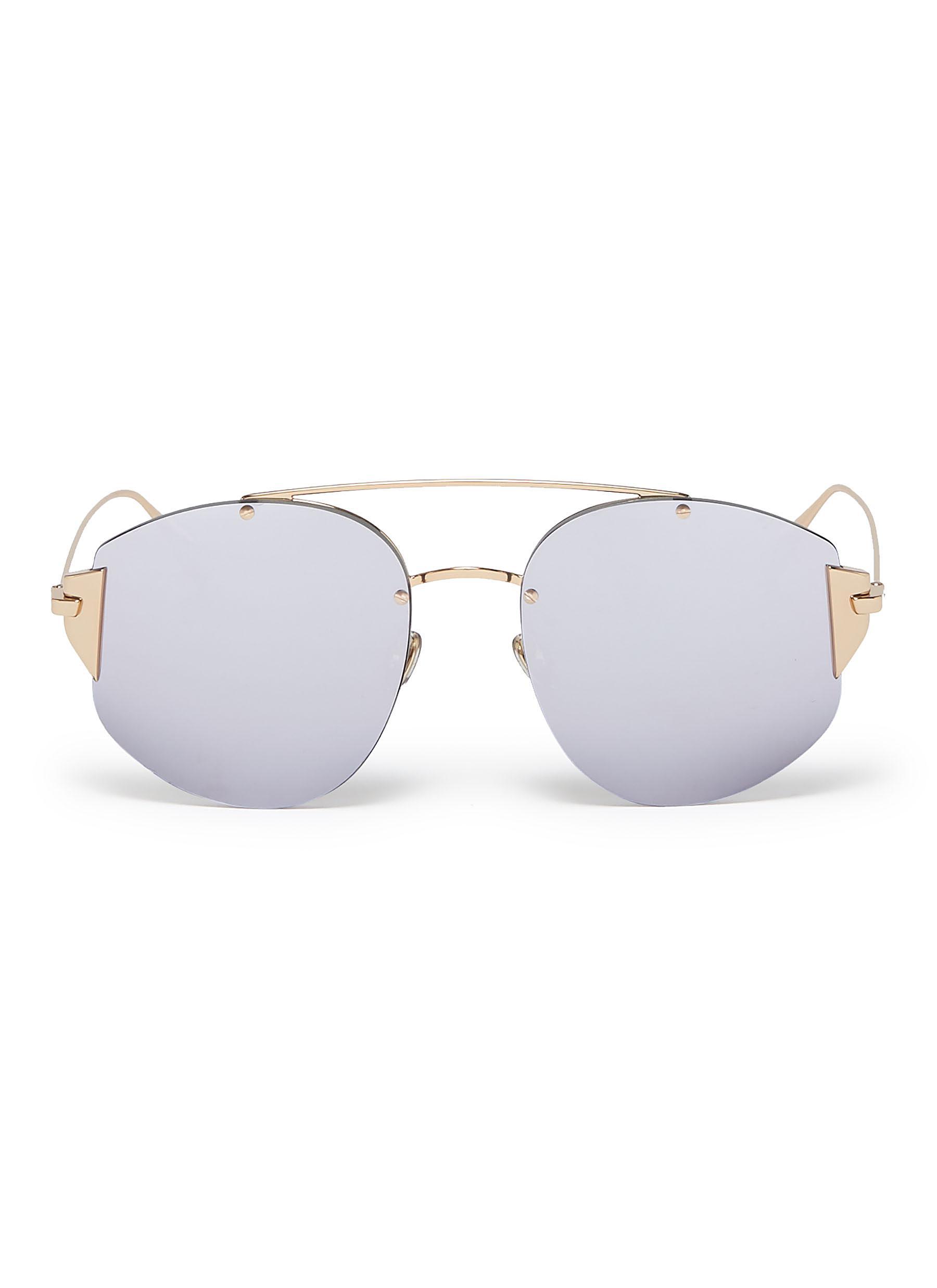 10c5004f9db4 Dior.  Dior Stronger  mirror metal aviator sunglasses