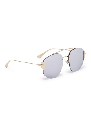 Figure View - Click To Enlarge - DIOR - 'Dior Stronger' mirror metal aviator sunglasses