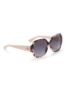 Dior 'Lady Dior Studs' tortoiseshell acetate square sunglasses