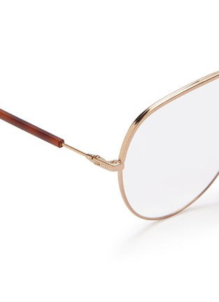 Detail View - Click To Enlarge - DIOR - 'Dior Essence 15' metal aviator optical glasses