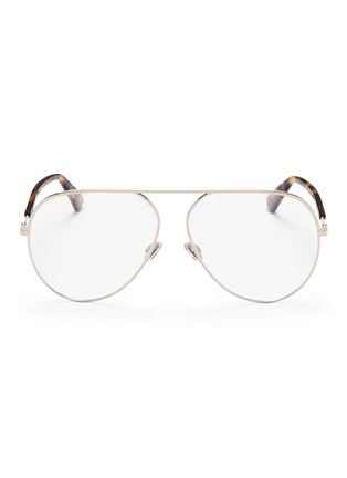 Main View - Click To Enlarge - DIOR - 'Dior Essence 15' metal aviator optical glasses