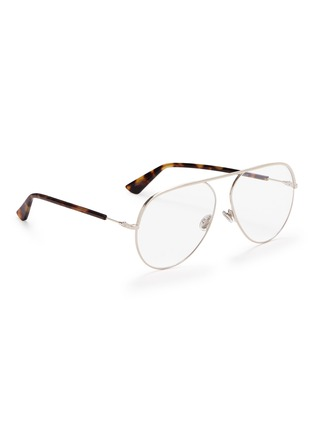 Figure View - Click To Enlarge - DIOR - 'Dior Essence 15' metal aviator optical glasses