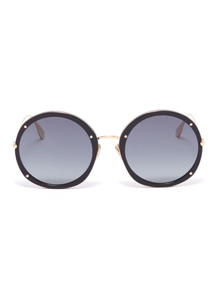 Main View - Click To Enlarge - DIOR - 'Dior Hypnotic 1' stud acetate front metal round sunglasses