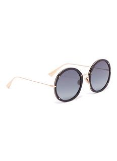 Dior 'Dior Hypnotic 1' stud acetate front metal round sunglasses