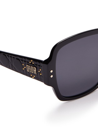 Detail View - Click To Enlarge - DIOR - 'Lady Dior Studs' acetate square sunglasses
