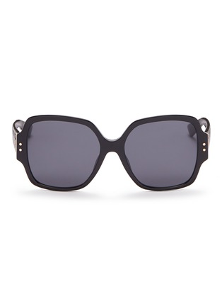 Main View - Click To Enlarge - DIOR - 'Lady Dior Studs' acetate square sunglasses