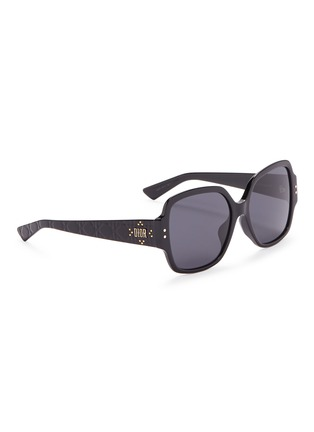 Figure View - Click To Enlarge - DIOR - 'Lady Dior Studs' acetate square sunglasses