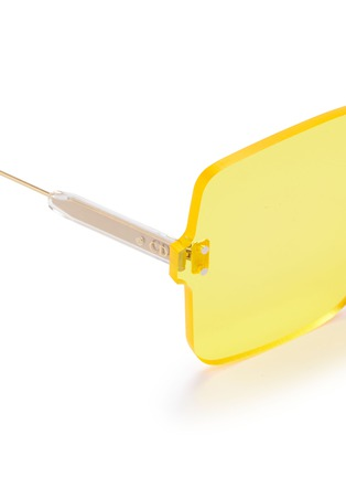 Detail View - Click To Enlarge - DIOR - 'Dior Color Quake 1' rimless square sunglasses