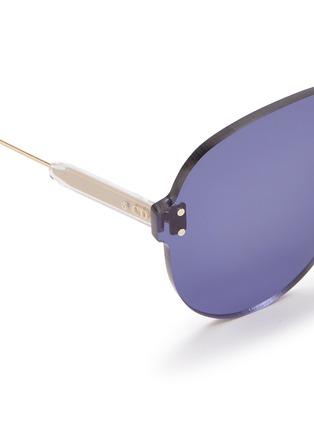 Detail View - Click To Enlarge - DIOR - 'Dior Color Quake 3' rimless aviator sunglasses
