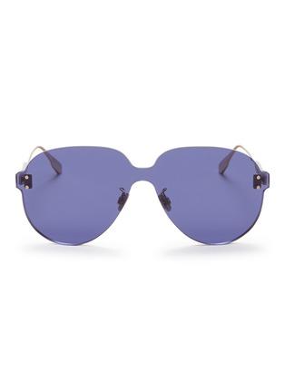 Main View - Click To Enlarge - DIOR - 'Dior Color Quake 3' rimless aviator sunglasses