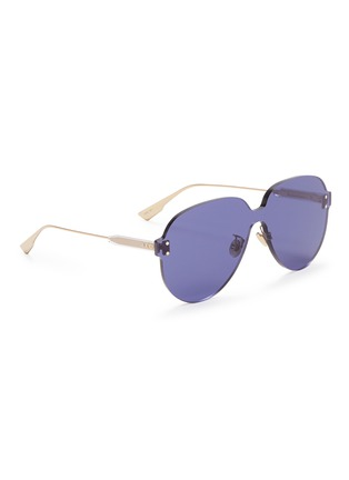Figure View - Click To Enlarge - DIOR - 'Dior Color Quake 3' rimless aviator sunglasses
