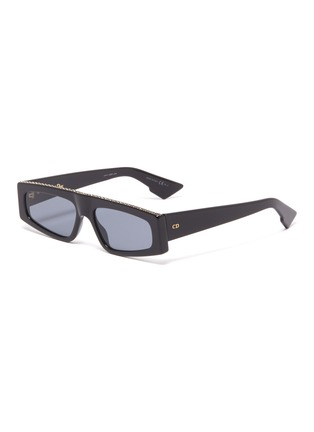 Main View - Click To Enlarge - DIOR - 'Dior Power' strass topline acetate square sunglasses