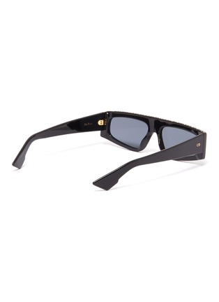 Figure View - Click To Enlarge - DIOR - 'Dior Power' strass topline acetate square sunglasses