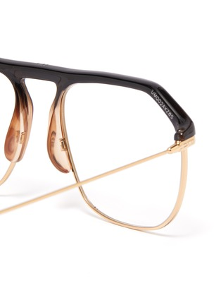 Detail View - Click To Enlarge - DIOR - 'Dior Stellairev' acetate top bar metal square optical glasses