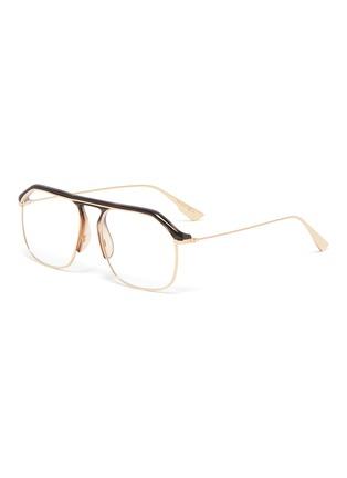 Main View - Click To Enlarge - DIOR - 'Dior Stellairev' acetate top bar metal square optical glasses