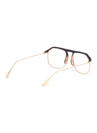 Figure View - Click To Enlarge - DIOR - 'Dior Stellairev' acetate top bar metal square optical glasses