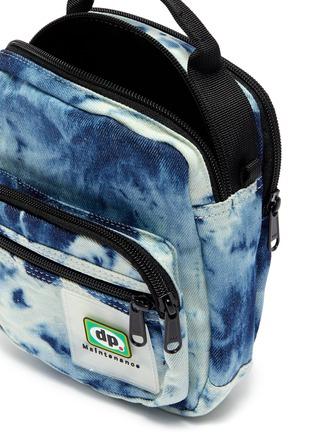 Detail View - Click To Enlarge - Daily Paper - 'Finem' logo patch tie-dye effect denim bum bag