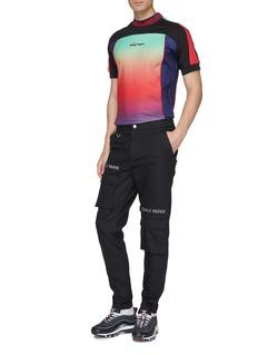 Daily Paper 'Fycling' logo print colourblock T-shirt