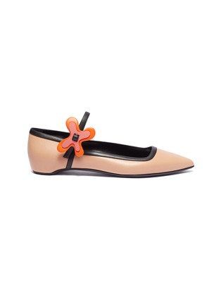 Main View - Click To Enlarge - Pierre Hardy - 'Bloom' floral buckle leather skimmer flats