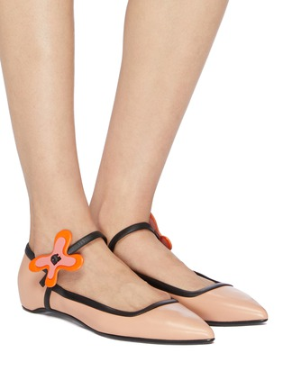 Figure View - Click To Enlarge - Pierre Hardy - 'Bloom' floral buckle leather skimmer flats