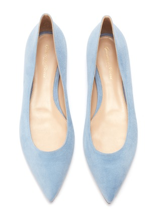 Detail View - Click To Enlarge - GIANVITO ROSSI - Suede skimmer flats