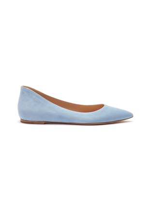 Main View - Click To Enlarge - GIANVITO ROSSI - Suede skimmer flats