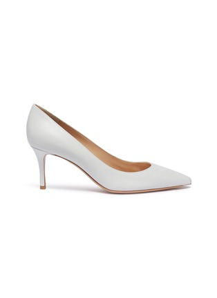Main View - Click To Enlarge - GIANVITO ROSSI - Leather skimmer pumps