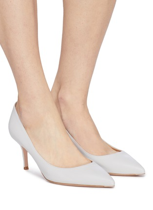 Figure View - Click To Enlarge - GIANVITO ROSSI - Leather skimmer pumps