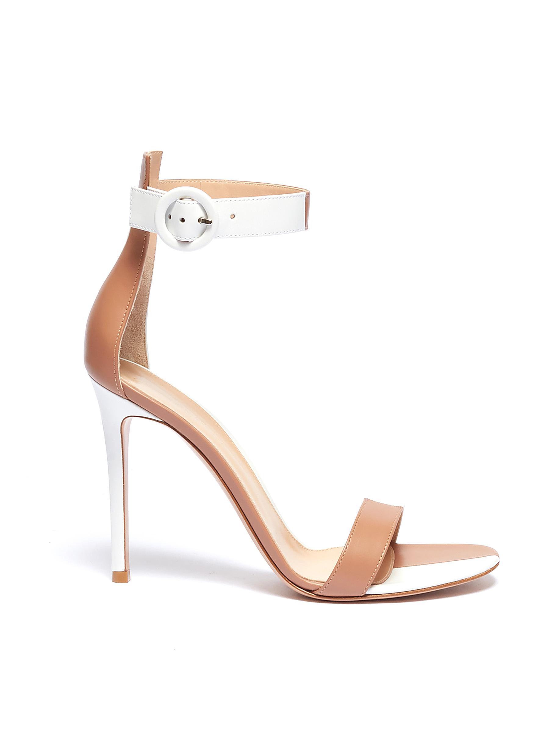 cd0f674b401 Gianvito Rossi.  Dama  colourblock ankle strap leather sandals