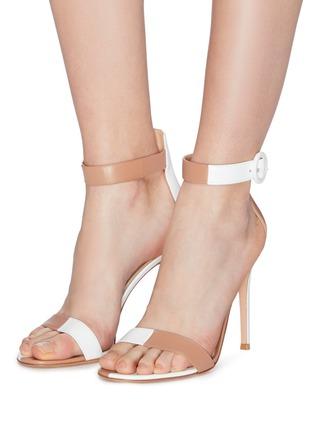 e1925e8adb6 Figure View - Click To Enlarge - Gianvito Rossi -  Dama  colourblock ankle  strap