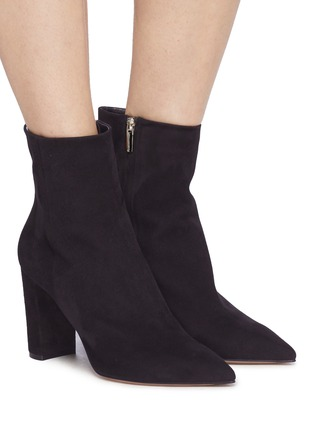 Figure View - Click To Enlarge - Gianvito Rossi - Suede ankle boots