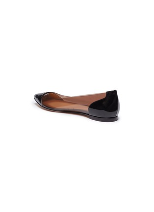 Detail View - Click To Enlarge - Gianvito Rossi - 'Plexi' clear PVC patent leather flats
