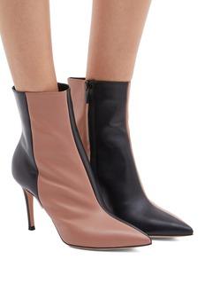 Gianvito Rossi Colourblock leather ankle boots
