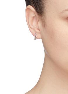 CZ by Kenneth Jay Lane Cubic zirconia mismatched geometric drop earrings