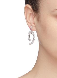 CZ by Kenneth Jay Lane Cubic zirconia glass pearl drop earrings