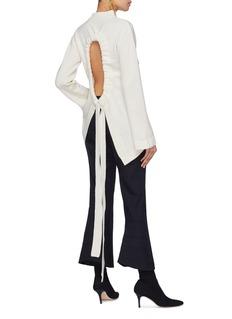 Ellery 'Vivos' tie open back Merino wool mock neck top