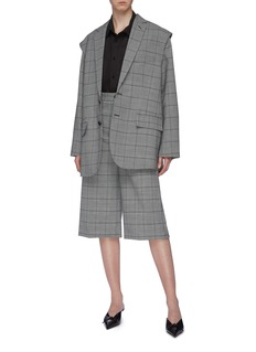 Balenciaga 'Twinset' two-in-one patchwork shirt and check vest